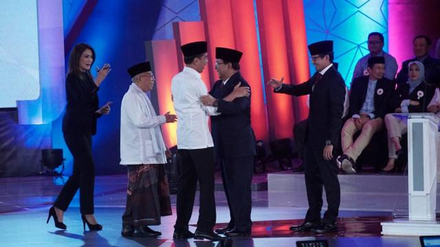 Jokowi-Maruf, Prabowo-Sandi, Debat Pertama