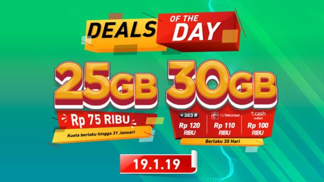 Khusus Hari Ini, Beli Paket Data Telkomsel 25 GB Cuma Rp 75