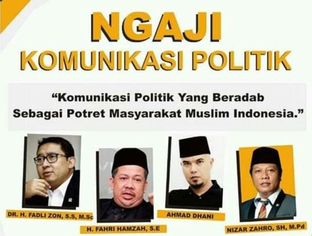 Trio Legislator Pusat dan Ahmad Dhani Akan Beri Materi Ngaji Komunikas (83076)