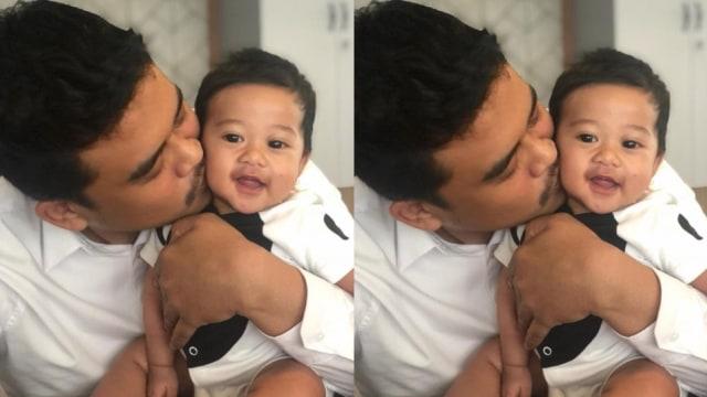 Sedah Mirah Nasution bersama ayahnya, Bobby Nasution.