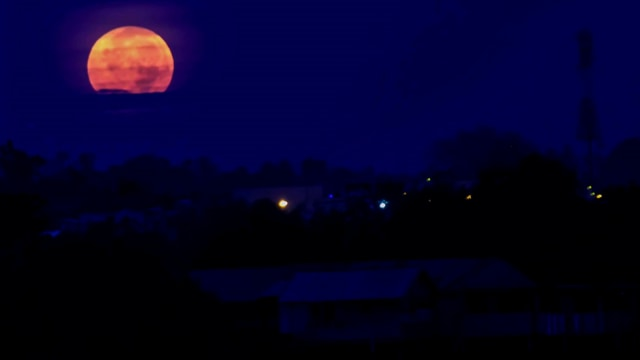 super blood wolf moon, Indonesia