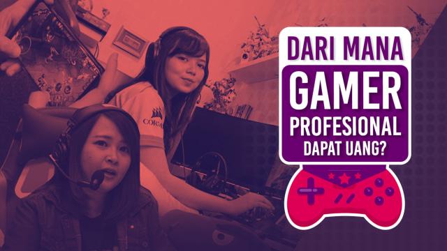 Sumber pendapatan para gamer profesional