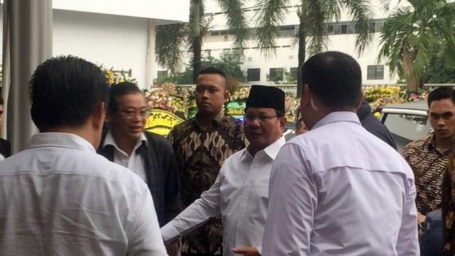 Prabowo dan Sandi Melayat ke Rumah Duka Eka Tjipta Widjaja