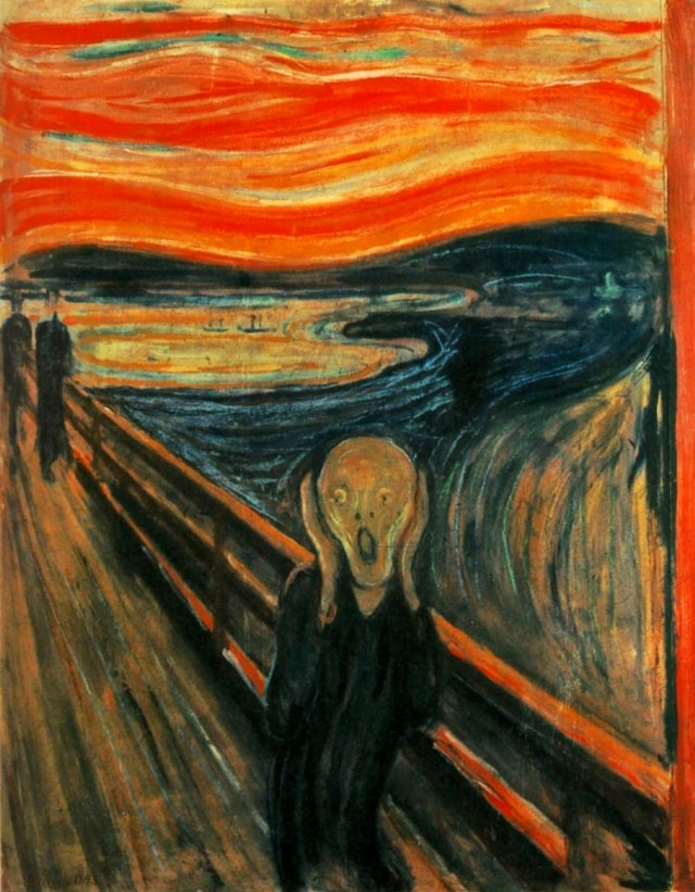 Lukisan The Scream oleh Edvard Munch