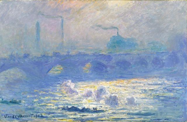 Lukisan Waterloo Bridge' karya Monet