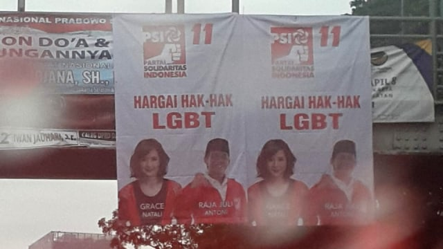Spanduk PSI, Tebet, Jakarta Selatan