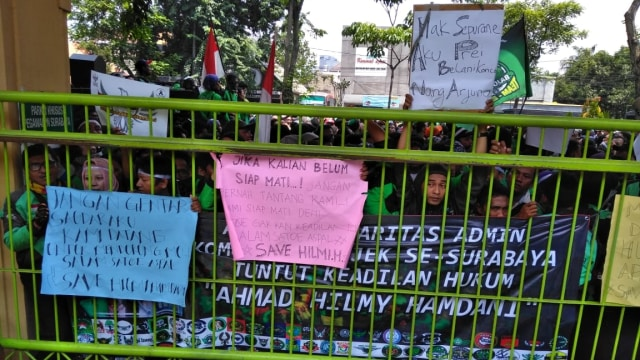 Aksi sejumlah pengemudi ojek online, PN Surabaya, Ahmad Hilmi Hamdani