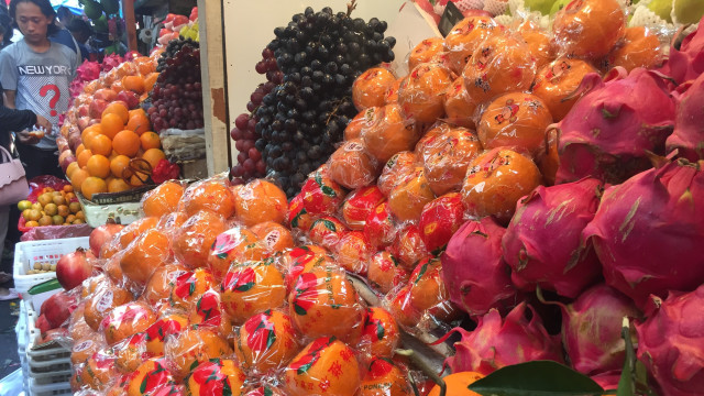 buah Jeruk impor, Imlek, Pancoran Glodok
