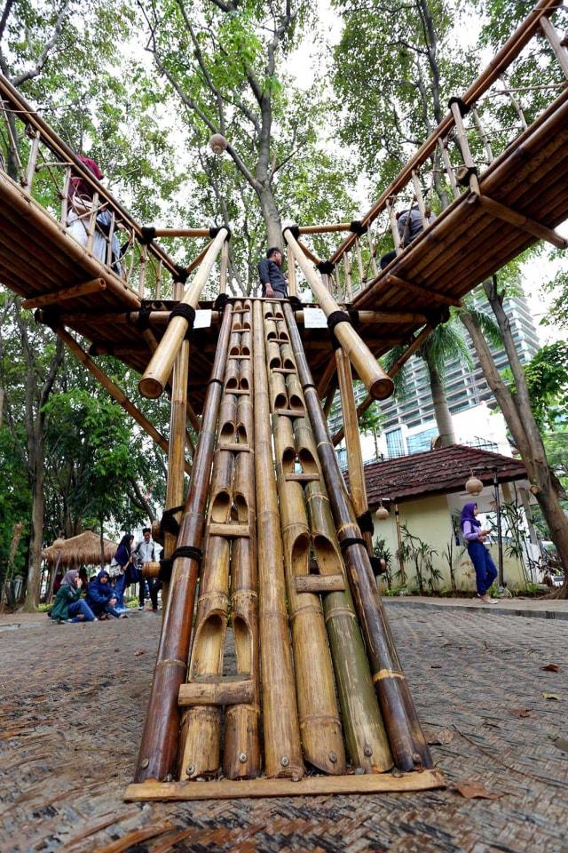 Foto Libur Seru Di Taman Bambu Kumparan Com