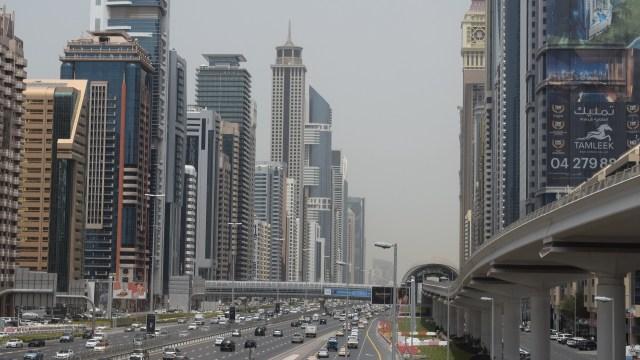 Ilustrasi lalu lintas di Dubai