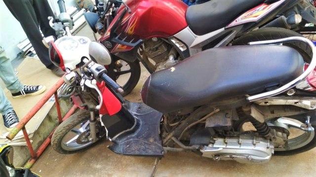 Motor yang dirusak pemilik, Polres Tangerang Selatan