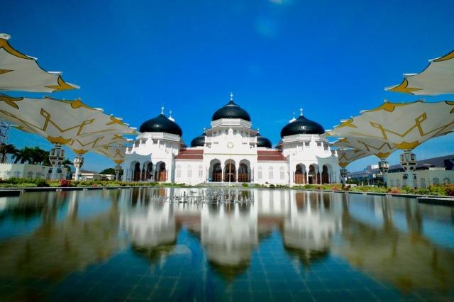 Foto: Menikmati Indahnya Masjid Raya Baiturrahman di Banda Aceh (1285844)