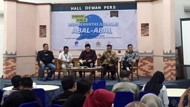 Diskusi Memberantas Jurnalis Abal-abal di Dewan Pers