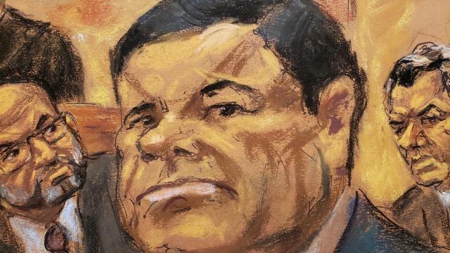 Ilustrasi pengadilan El Chapo