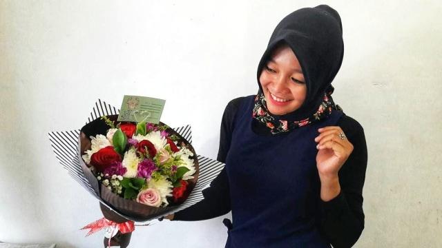 Bunga Mawar Laku Keras Jelang Valentine (3176)