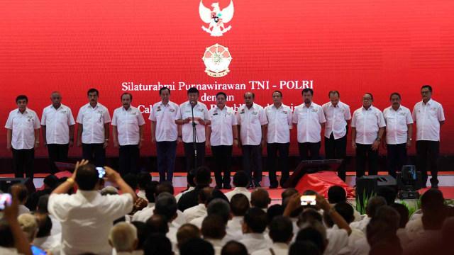 LIPSUS, Jenderal Pilpres, Sejumlah purnawirawan menyampaikan deklarasi secara simbolis untuk mendukung pasangan Joko Widodo - Ma'ruf Amin