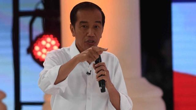 Debat kedua Capres 2019 di Hotel Sultan Jakarta, Capres nomor urut 01 Joko Widodo