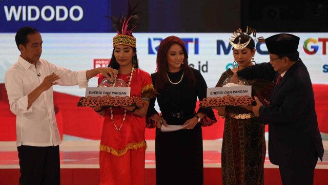 Debat kedua Capres 2019 di Hotel Sultan Jakarta, Capres nomor urut 01 Joko Widodo, Capres nomor urut 02 Prabowo Subianto