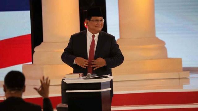 Debat kedua Capres 2019 di Hotel Sultan Jakarta, Capres nomor urut 02 Prabowo Subianto