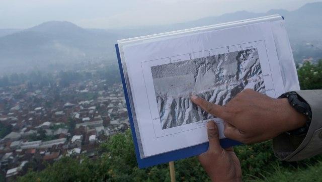 KONTEN SPESIAL SESAR LEMBANG, Peta sesar Lembang