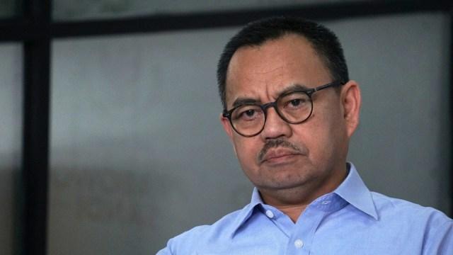 Konferensi pers BPN Prabowo-Sandi, Direktur Materi dan Debat BPN Prabowo-Sandi, Sudirman Said