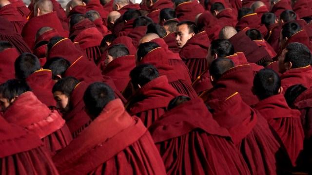 Sunbathing Buddha Festival, Tibet