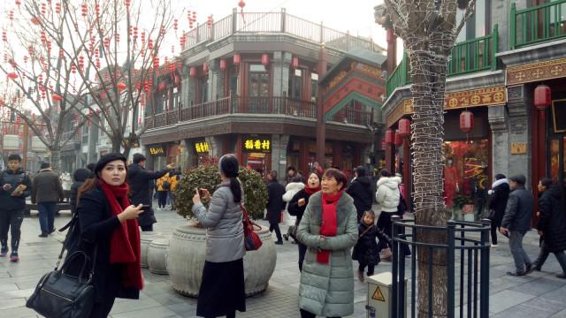 Sambut Cap Go Meh di Dashilar Street,  Beijing, China