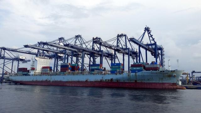 Kapal kargo, Ilustrasi ekspor impor, Ilustrasi pelabuhan, Tanjung Priok
