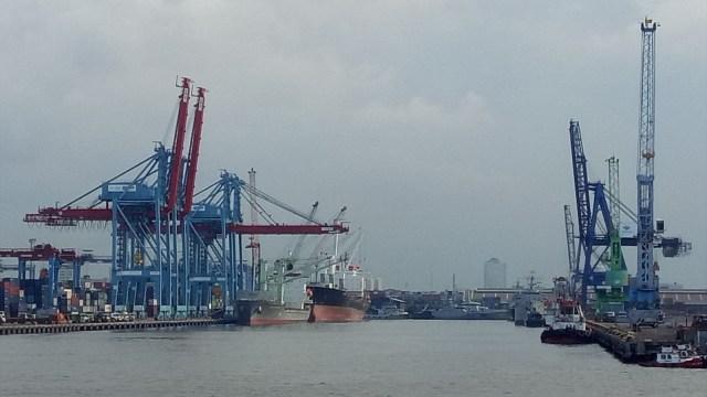 Ilustrasi pelabuhan, ekspor impor, Tanjung priok, Pelindo II