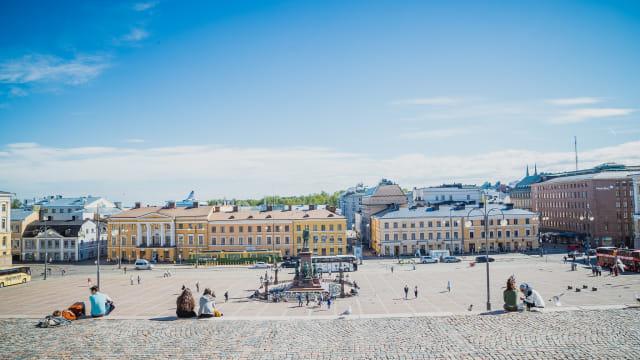Kota Helsinki di Finlandia