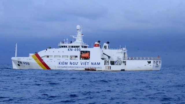 Ilustrasi kapal pengawas perikanan Vietnam