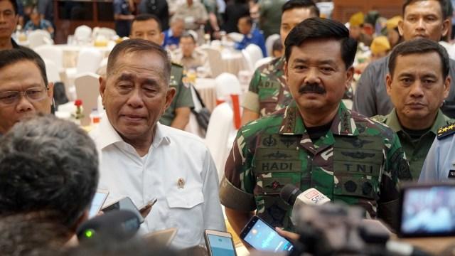 Menteri Pertahanan Indonesia, Ryamizard Ryacudu, Panglima TNI, Hadi Tjahjanto, Kantor Kemhan