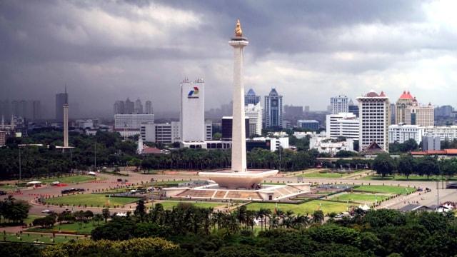 Ilustrasi Cuaca Buruk di Jakarta