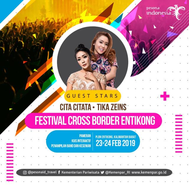 Festival Crossborder Entikong, ini deretan lagu Cita Citata (123346)