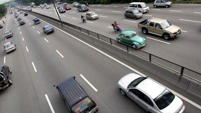 Ilustrasi jalan tol di Kuala Lumpur, Malaysia