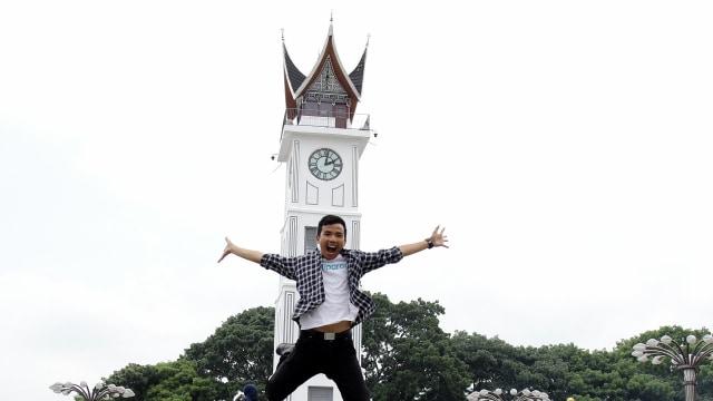 Suasana Jam Gadang di Bukittingi, Sumatera Barat