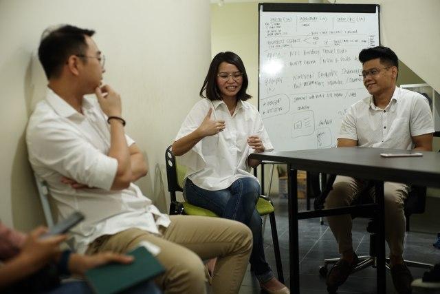 Kevin Andy, Licke Mayasari, dan Ronald Surjadi, pendiri Peapepo