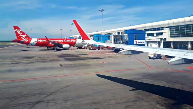 Ilustrasi, Bandara, Pesawat, Air Asia