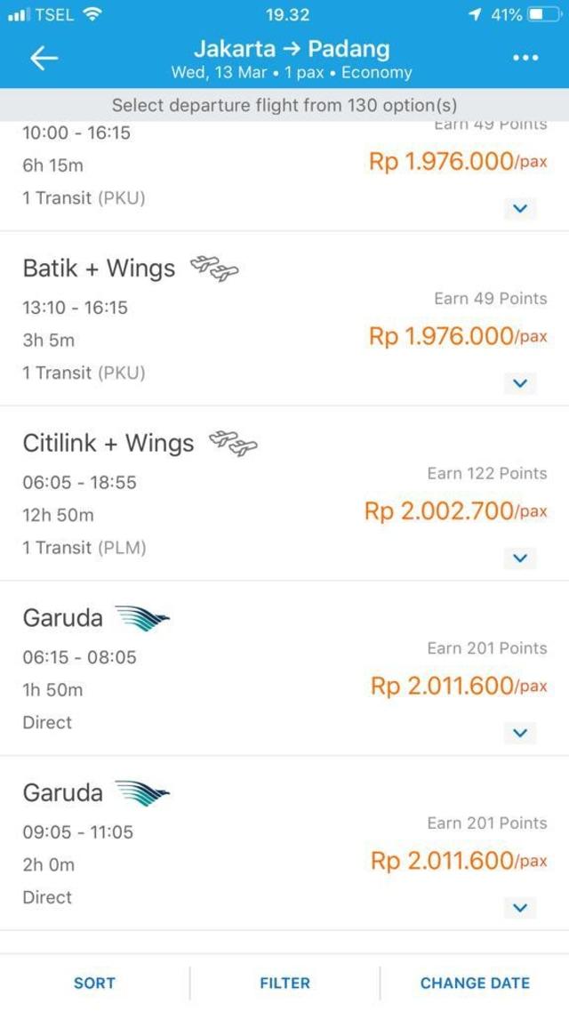 Garuda Turunkan Harga Tiket Jakarta Padang Jadi Di Bawah Rp