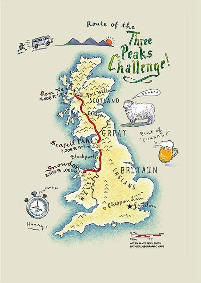 Three Peaks Challenge: Menaklukkan 3 Gunung Tertinggi di Inggris Raya (30907)