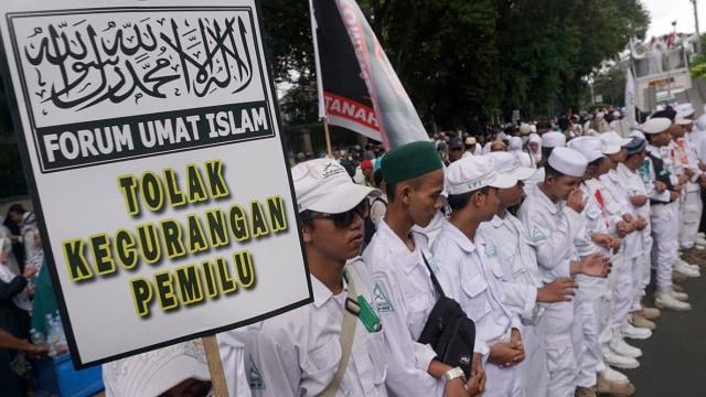 Aksi Gabungan Massa FUI dan Gerakan Jaga Indonesia, Depan KPU, Jalan Imam Bonjol