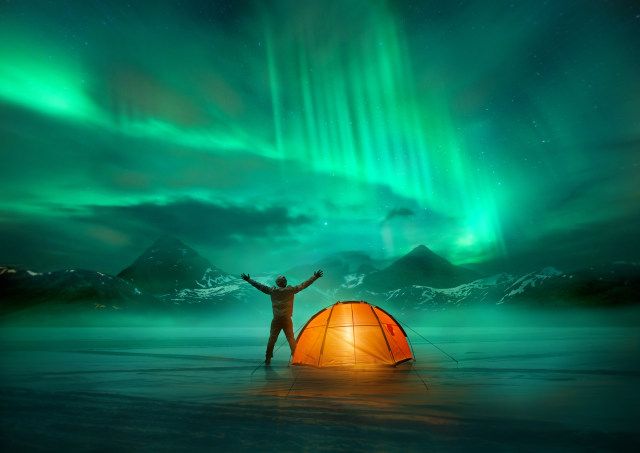 Aurora Borealis di Islandia
