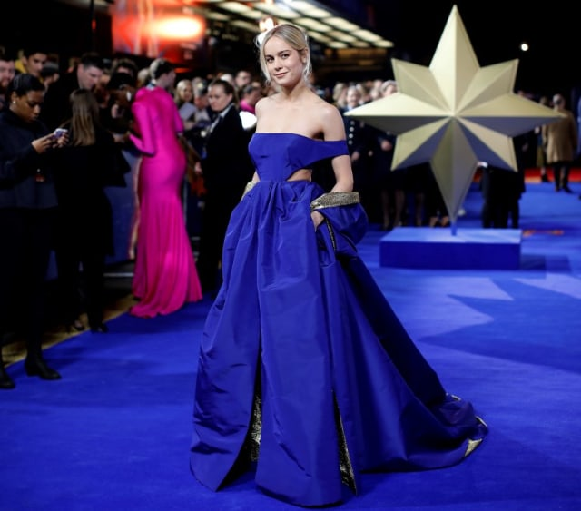 Brie Larson Tampil dengan Gaun 'Superhero' di Premiere Captain Marvel (2274)
