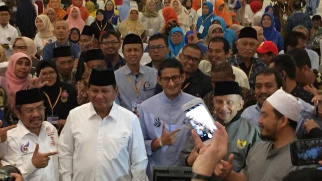 Prabowo Subianto dan Sandiaga Uno, Grand Sahid
