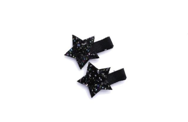 Stroberi Glitter Star Barrette Clip