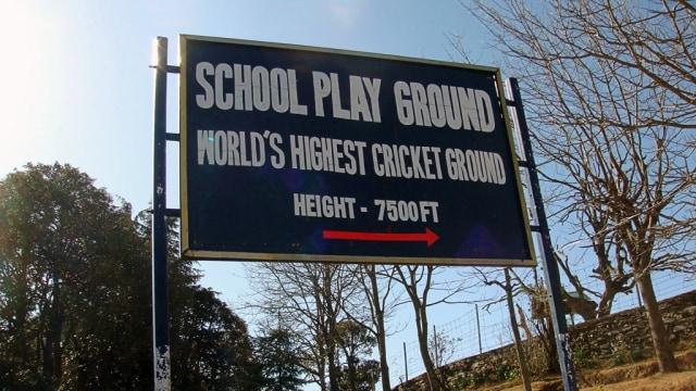 Chail Cricket Ground, India