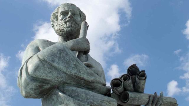 Patung filsuf Socrates di Yunani