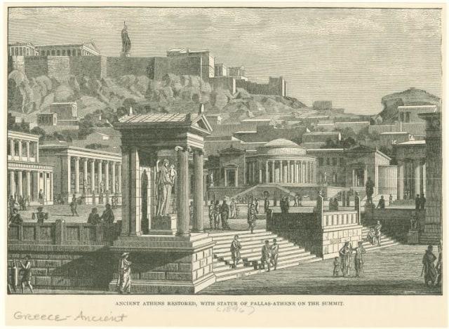 Ilustrasi suasana Yunani