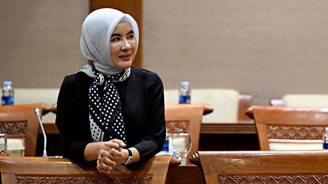 Nicke Widyawati, RDP Komisi VII DPR, Senayan, Jakarta