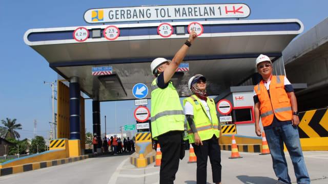 Tol Trans Sumatera yang dibangun PT Hutama Karya